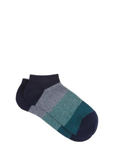 Mavi Yeşil Patik Çorap Yeşil